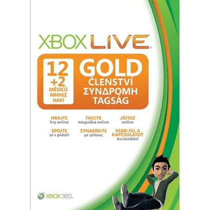 Live 12 Month Gold Membership Card (X-360)