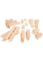 Koleje BIGJIGS RAIL dřevěné 24 dílků