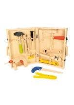 Kufřík s nářadím dětský BIGJIGS TOYS dřevěný