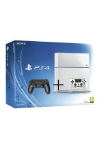 Playstation 4 500GB Glacier White + druhý ovladač (PS4)