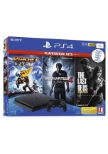 SONY Playstation 4 slim 1TB 2116B + Ratchet and Clank + The Last Of US + Uncharted 4: A Thiefs End (PS4)