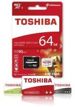 TOSHIBA EXCERIA micro SDHC 64GB bílá